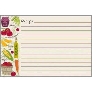 Gina B. Designs Colorful Veggies Recipe Card