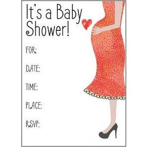Set Of 10 Waiting For Baby Fill In Baby Shower Invitations