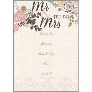 Set of 10 Mr & Mrs {To Be} Wedding Shower Fill In Invitations From Gina B. Designs