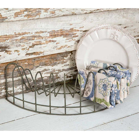 Set Of 2 Old-Fashioned Half Round Plate Racks