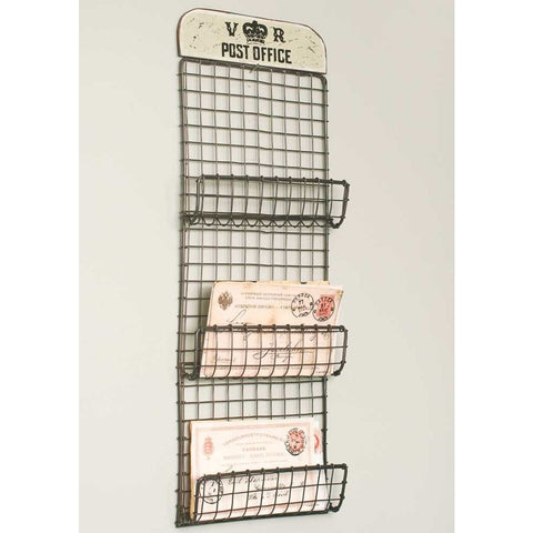 Vintage Wall Organizer Featuring 'VR Post Office' Design