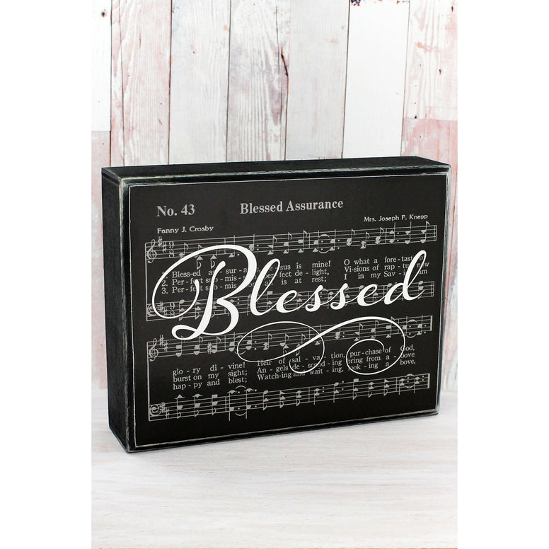 Blessed Classic Hymn Tabletop Box Sign