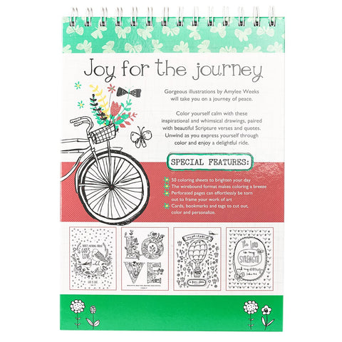 Adult Coloring Book Featuring Illustrations By Amylee Weeks And 'Joy For The Journey' Message