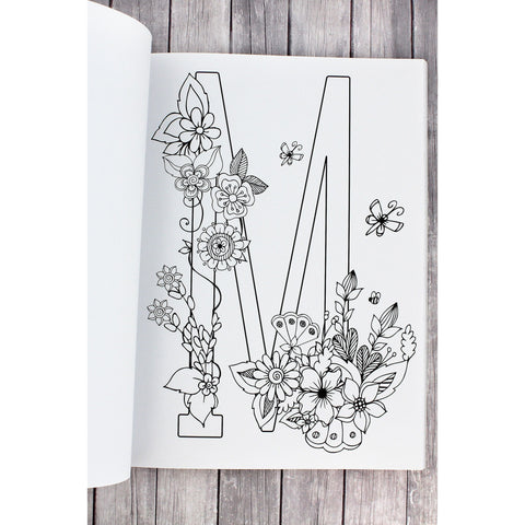 Letters To Live By Coloring Monograms