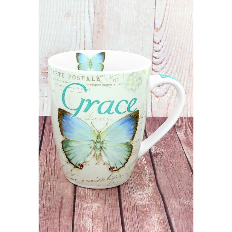 Ceramic Butterfly 'Grace' Mug