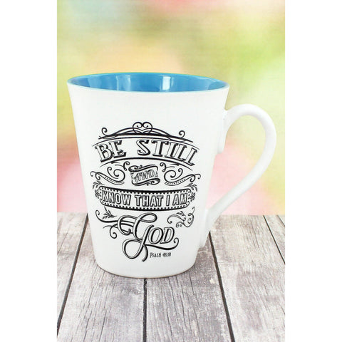 Ceramic 'Be Still And Know That I Am God' Mug