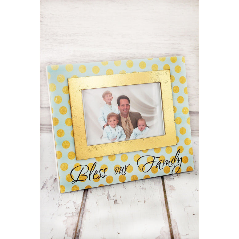 'Bless Our Family' Photo Frame