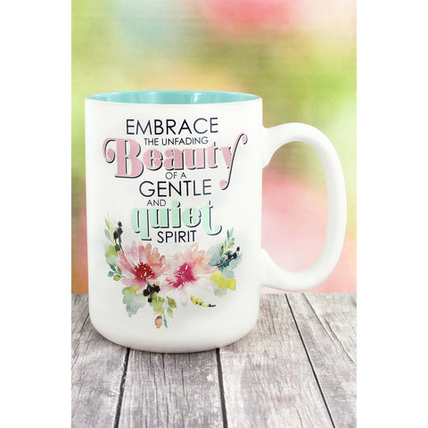 Colorful 'Embrace The Unfading Beauty' Mug