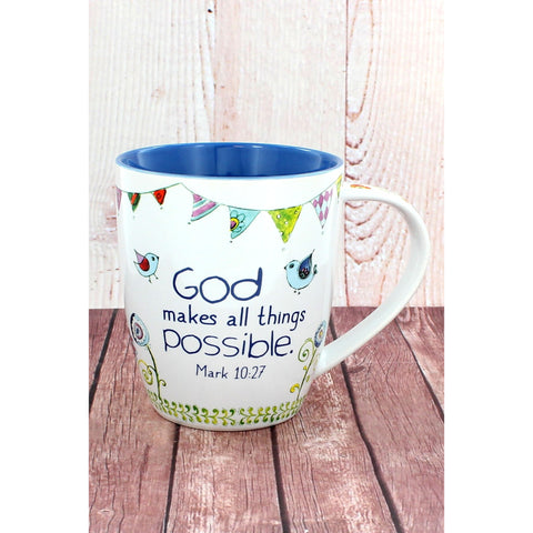 'God Makes All Things Possible' Mug