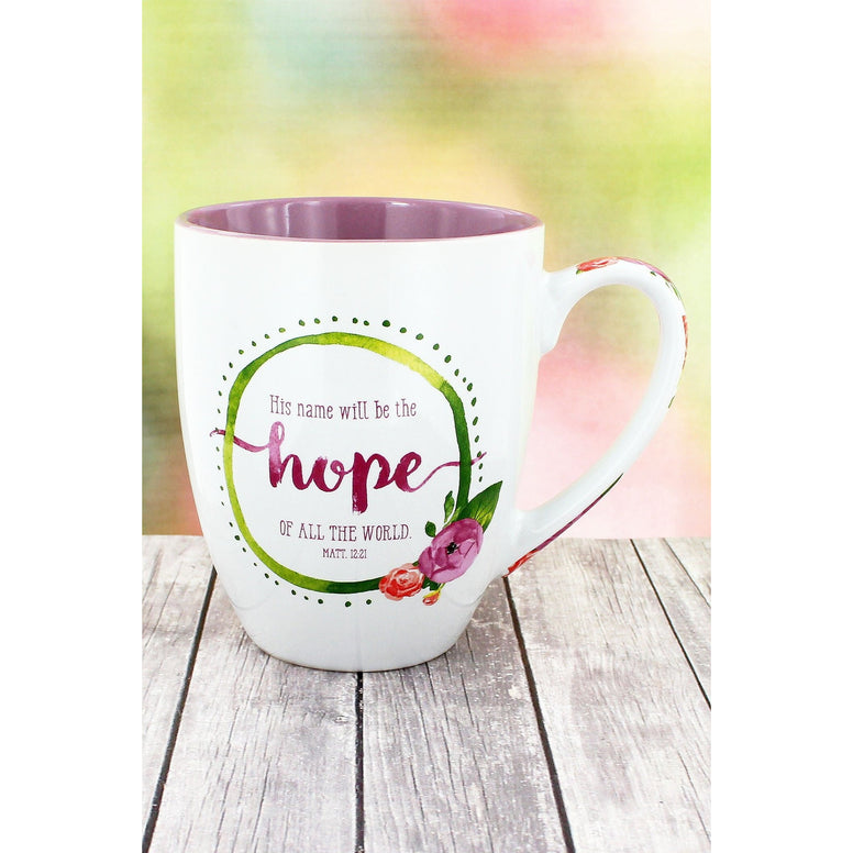 Colorful 'His Name Will Be The Hope Of All The World' Mug