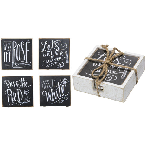 Uniquely Fun Black And White Chalk Coasters