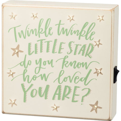 'Twinkle Twinkle' LED Box Sign
