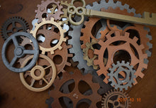 MASSIVE Large Steampunk Gears. Steam Punk Huge Gears Hand Painted Giant Gears Big Cogs - Victorian Foundry