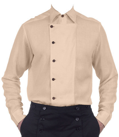 Men's Classic Steampunk Side-Button Shirt in 10 Colors. Gentlemen's Victorian Style Shirt - Victorian Foundry