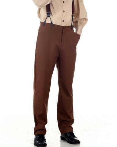 White, Brown, or Black Classic Straight Fit Steampunk Pants