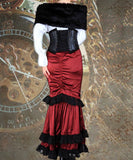 Faux Fur Elegant Steampunk Evening Dining Shrug Capelet