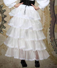 Five layer VIctorian Vintage Ruffle Frilly Steampunk Womens Skirt - Victorian Foundry