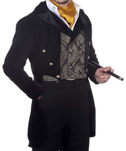 Gentlemens Evening Brocade Accent Coat Luxury Dining Mens Jacket - Victorian Foundry