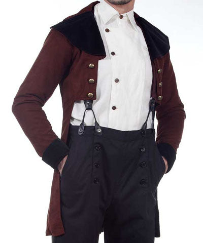 Mens Aristocrats Settlers Coat Fancy Tailcoat Gentlemens Party Jacket - Victorian Foundry