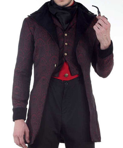 Elegant Mens Coat Steampunk Aristocrat Fancy Jacket Gentlemens Smoking