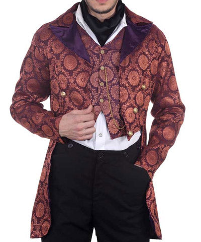 Victorian Gentlemens Tailcoat Airship Captains Dining Mens Jacket