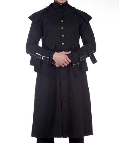 Cavalier Gamblers Gentlemens Coat Steampunk Mens Long AirShip Jacket