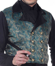 "Steampunk ""Gem of the Airship Captains Eye"" Brocade Vest - Victorian Foundry"