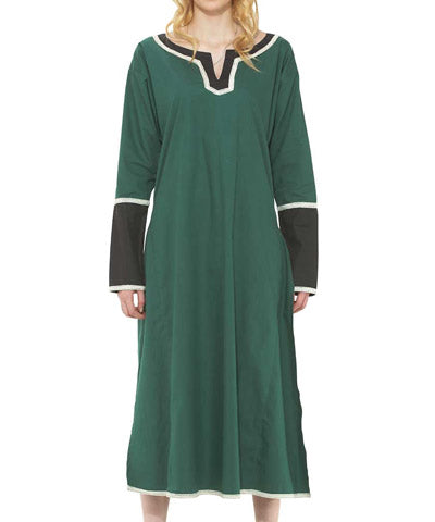 Long Green Two Tone Tunic Womens Long Sleeve Shirt Victorian Steampunk Top