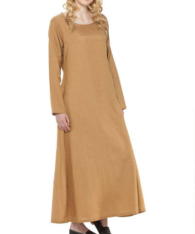 Simple Multiple Colors Cotton Ankle Length Steampunk Victorian Womens Under Dress - Victorian Foundry