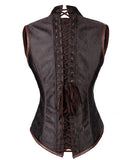 Gothic Retro Brocade 10 Bones Lace Up Steampunk Steel Boned Corsets _