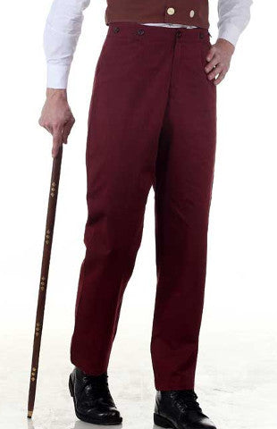 Grey or Maroon Steampunk Canvas Classic Pants