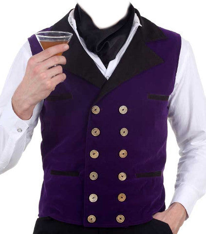 Purple Steampunk Velvet Vest
