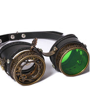 Steampunk Goggles Metal and Leather with Working Iris and Interchangeable Lenses - Victorian Foundry