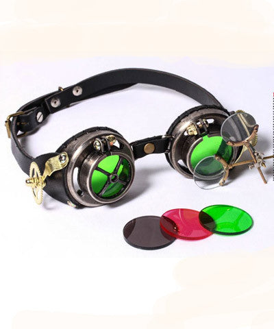 Steampunk Tinkerers Jeweler Goggles High Quality Leather and Metal _ - Victorian Foundry