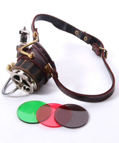 WIP Steampunk Goggles Monocole Light up Light - Victorian Foundry