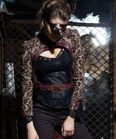 WIP Steampunk Womens Floral Coat Jacket - Victorian Foundry