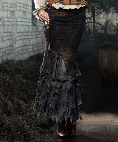 WIP Steampunk Womens Long Skirt of the ruffles - Victorian Foundry