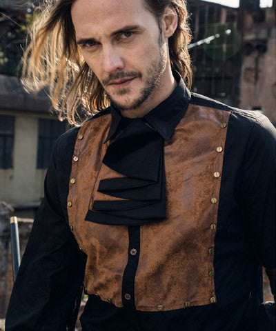 WIP Steampunk Mens Shirt of the Cocoa Brown - Victorian Foundry