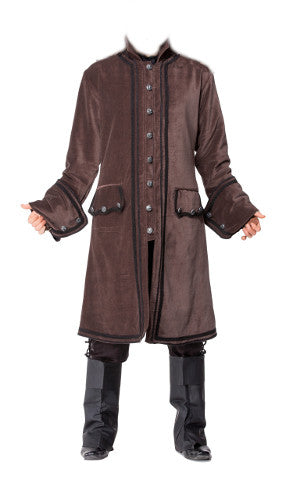 Gentlemens Brown Steampunk Overcoat. Mens Victorian Button Down Trench Coat - Victorian Foundry