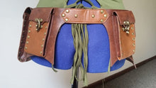 Steampunk Festival Waist Satchel Faux Leather Brown Waist Pack Belt w/ Pockets - Victorian Foundry