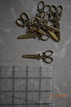 Antique Scissors Charms. Vintage Brass Scissor Charm Jewelry. Necklace or Bracelet Steampunk - Victorian Foundry