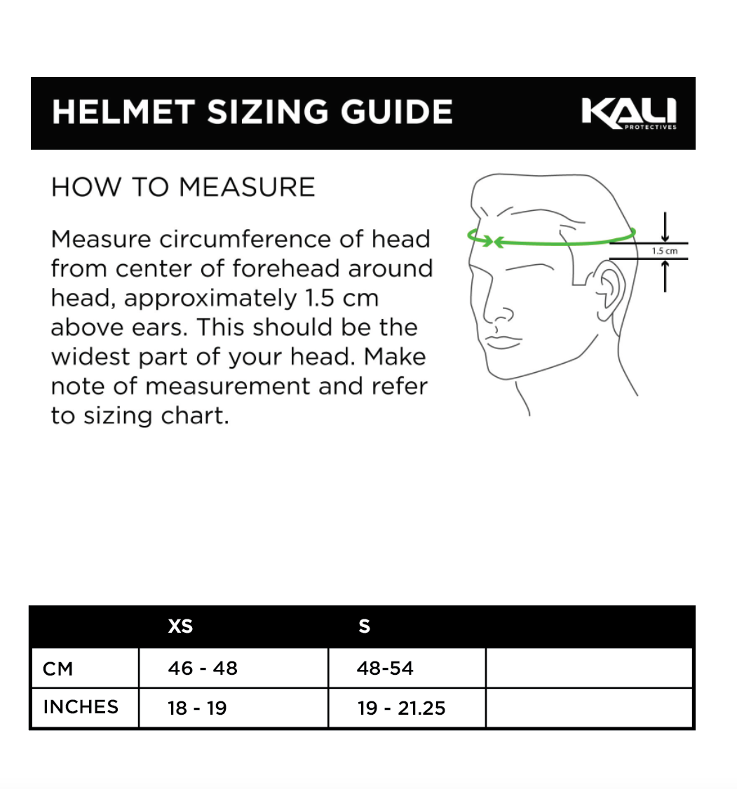 Bike Youth Size Chart Kali Protectives