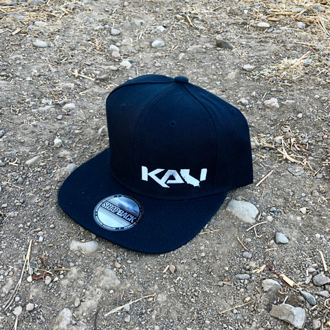 Kali State Flat Bill Hat - Black/Silver