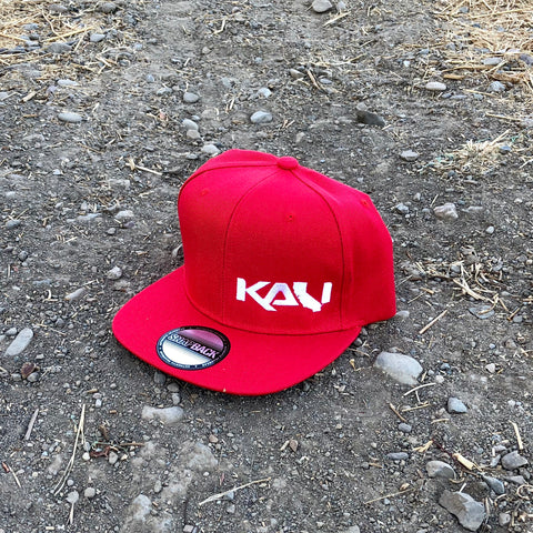 Kali State Flat Bill Hat - Red/White