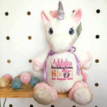 Load image into Gallery viewer, Personalised White Unicorn Cubby