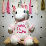 Personalised White Unicorn Cubby