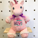 Personalised Pink Unicorn Cubby