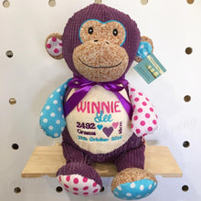Load image into Gallery viewer, Personalised Purple Harlequin Monkey Cubby