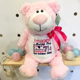 Personalised Pink Bear Cubby