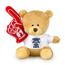 Load image into Gallery viewer, Personalised AFL #1 Bear - Geelong Cats